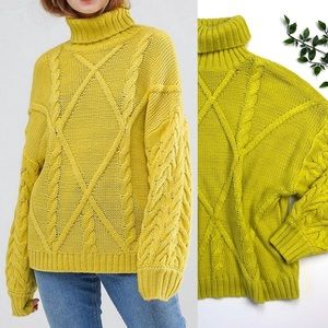 ASOS Cableknit Roll Turtleneck Sweater